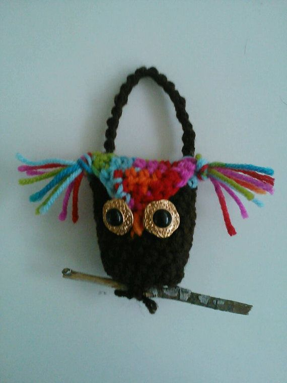 Crochet Owl Ornament by ReciprocityCrafts on Etsy, $5.00