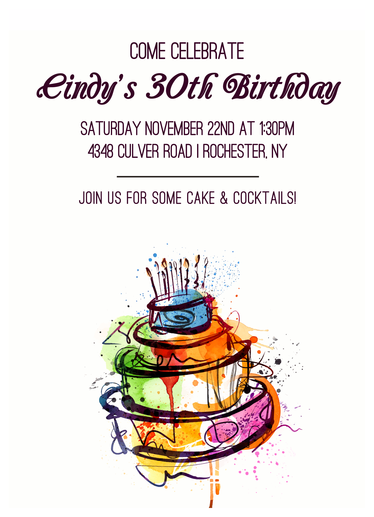 Send Out This Birthday Invitation To Invite Your Friends And Family Party