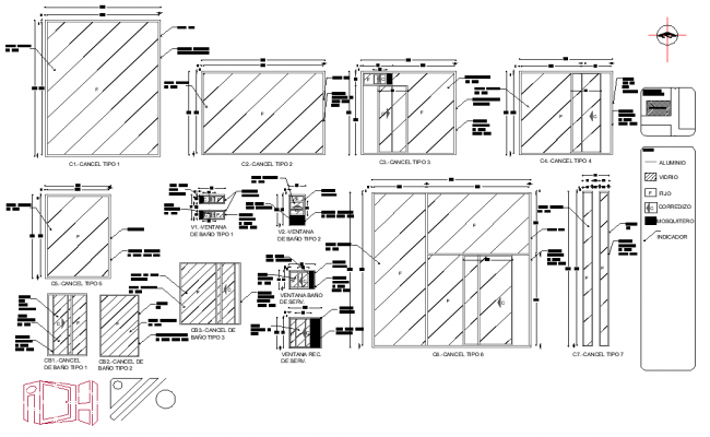 Cancellation elevation and section layout file, dimension