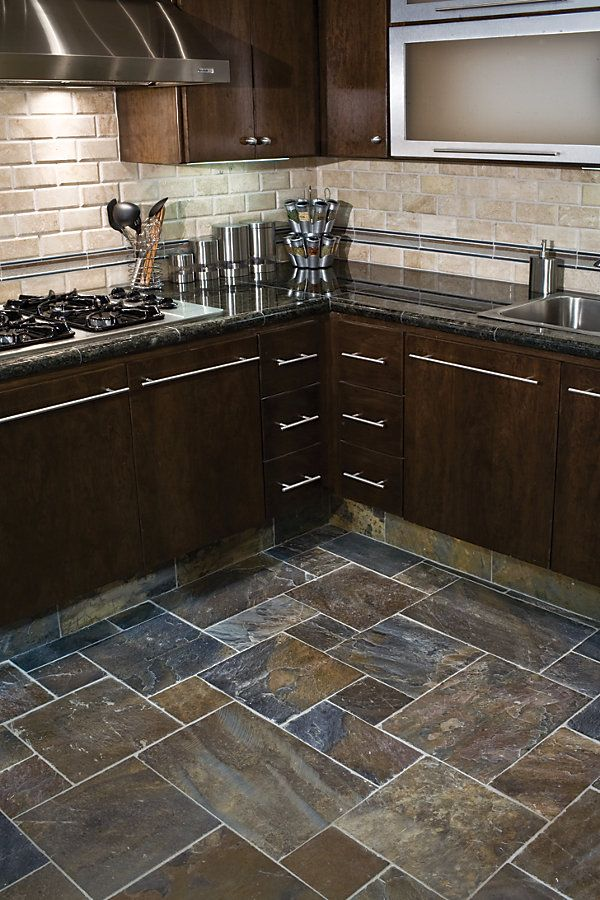 Dark Kitchen Floor Tiles