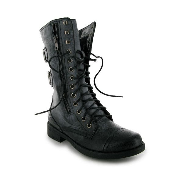 Womens Ladies Lace Up Calf Knee High Heel Combat Military Boots Size UK 3-8