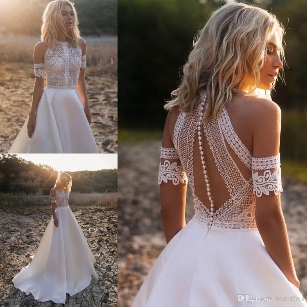 Muse By Berta 2019 Wedding Dresses V Neck Lace Backless Mermaid Bridal Gowns High Slit See Through Trumpet Customized Beach Wedding Dress Simple Mermaid Wedding Dress Strapless Lace Mermaid Wedding Dress From Sweety_wedding, $169.37| DHgate.Com #civilweddingdresses