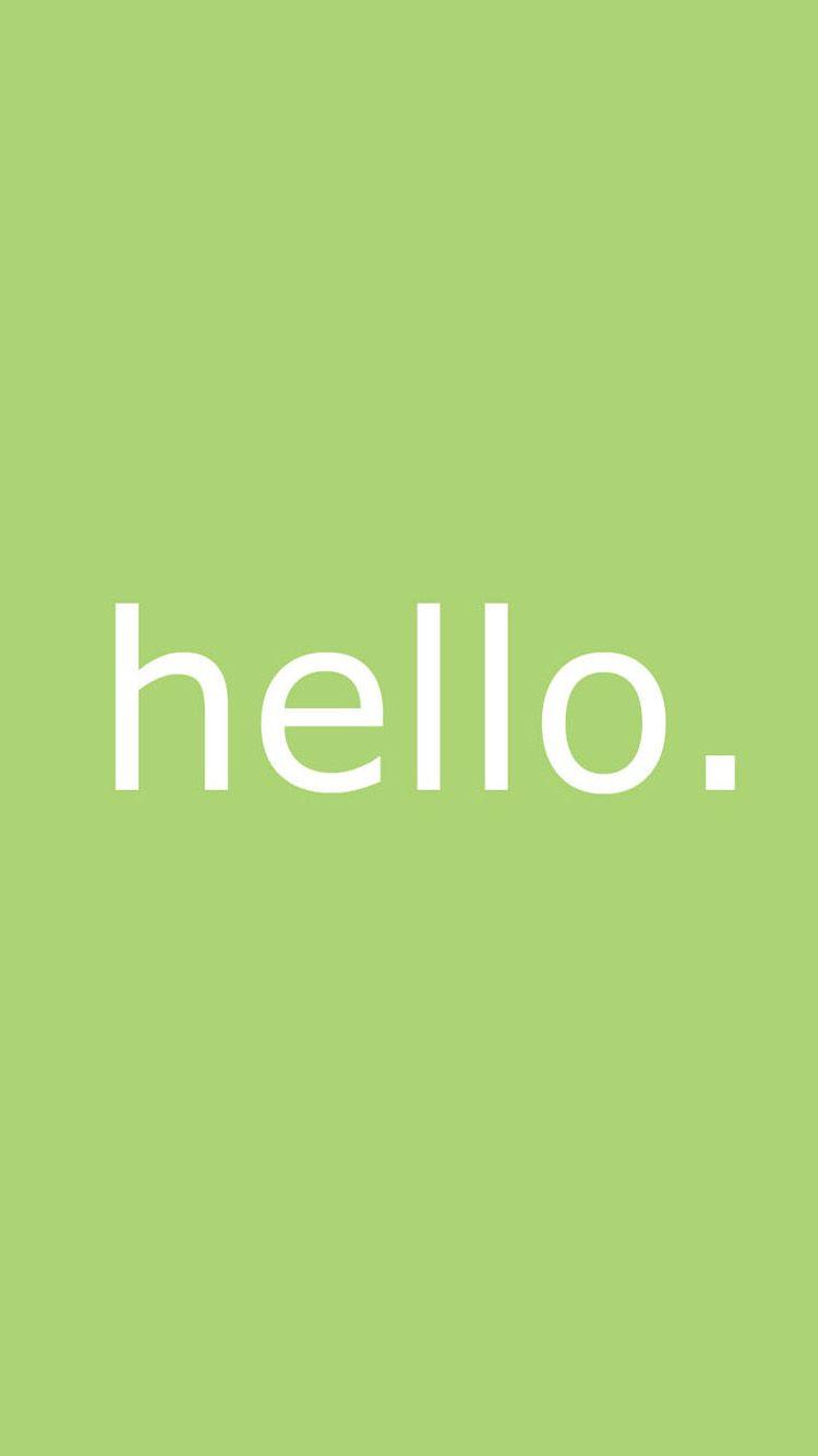 Letter hello iPhone 6 Wallpaper