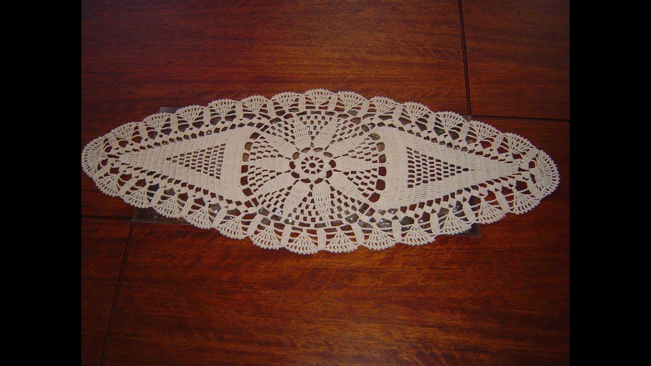 Como Tejer Carpeta Ovalada o Centro de Mesa a crochet paso a paso ...