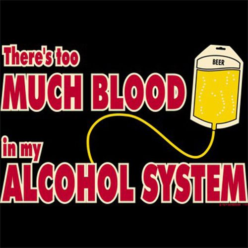 f6419c2f7e THERE'S TOO MUCH BLOOD IN MY ALCOHOL SYSTEM FUNNY T-SHIRT | Graphic ...
