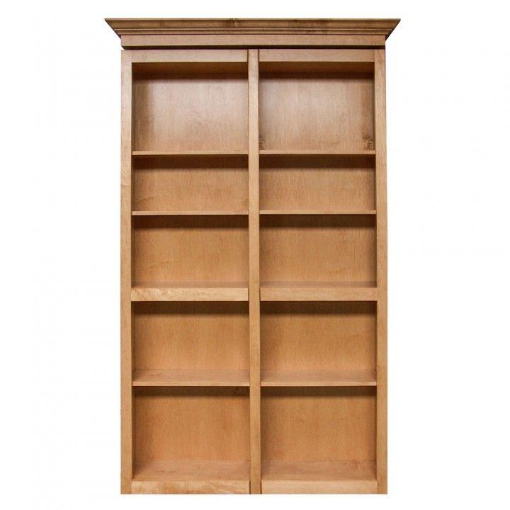 Invisidoor Bi Fold Bookcase Shelving Unit Kit Maple In 2020