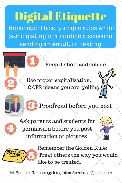 Digital Etiquette 2 Digital Safety Citizenship Pinterest