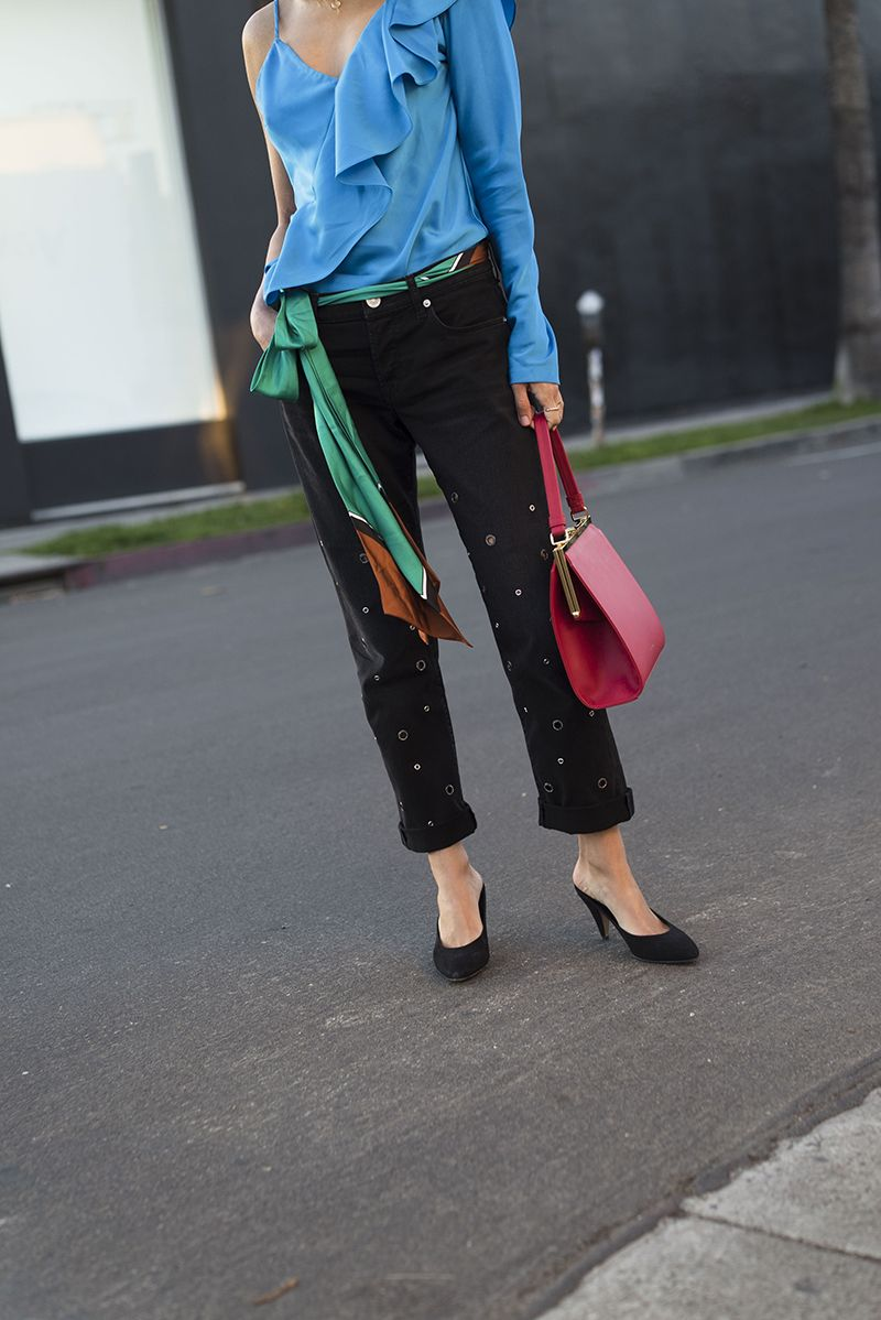 Silk Ruffle Blouse and Mules for Work | Song of Style