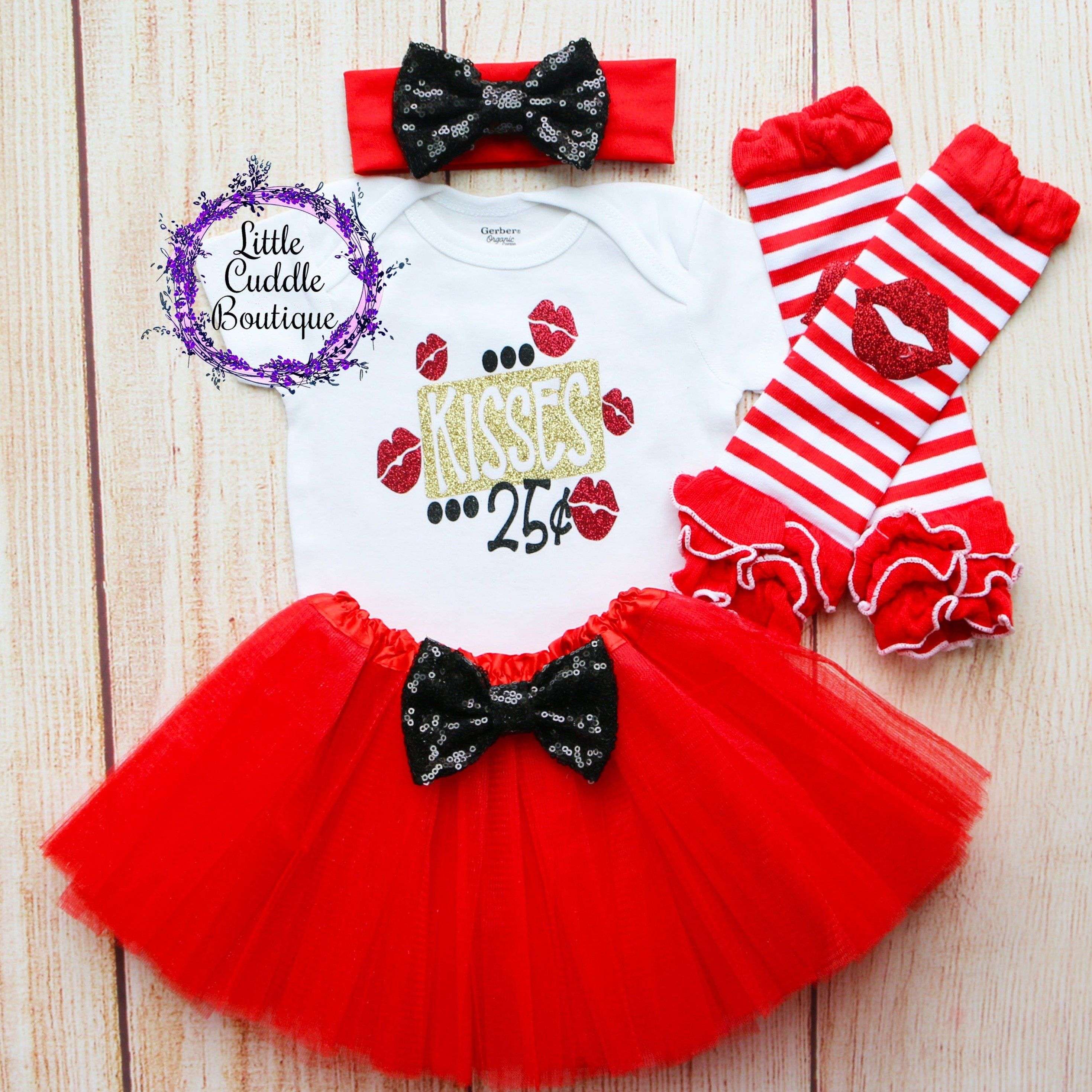25cent Kisses Valentines Day Sequin Bow Headband