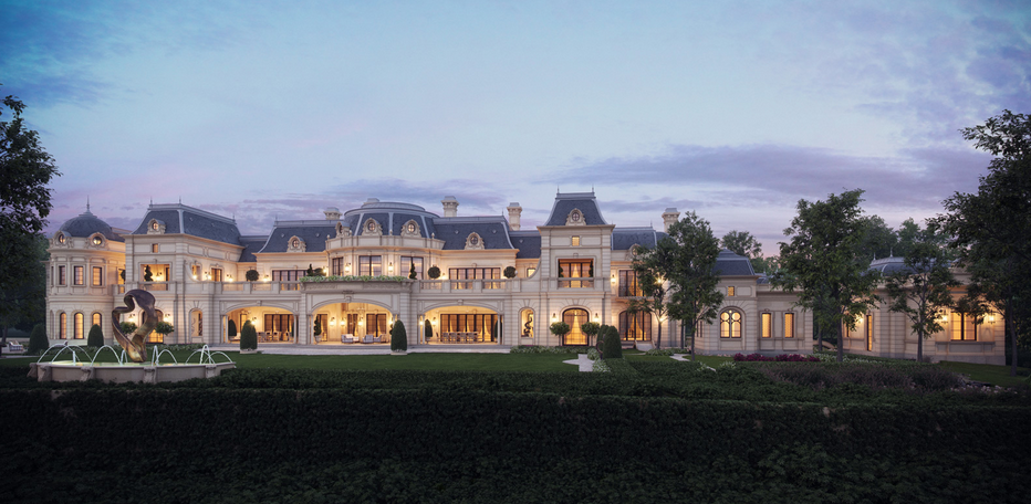 Rear exterior homes pinterest dream houses for French chateau exterior design