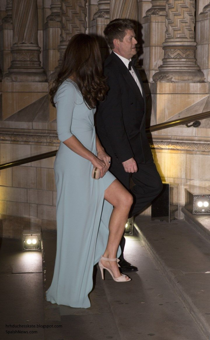 Duchess Kate: Kate in Stunning Blue Jenny Packham Gown for Widlife Photographer of the Year Awards