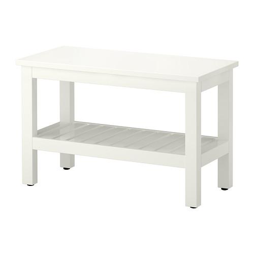 Panca Ikea Legno.Hemnes Panca Bianco Kopalnica Idee Ikea Hemnes E Ikea