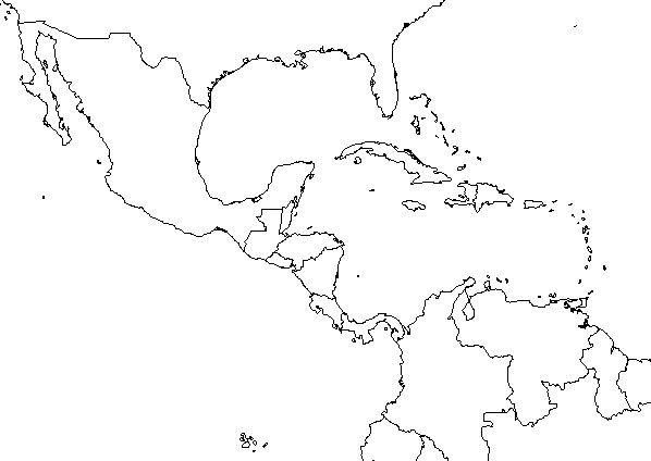 17 Blank Maps Of The United States And Other Countries Central