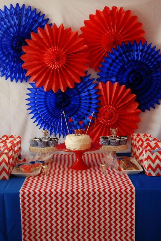 Red And Blue Horse Party Horse Party Blue Party Decorations