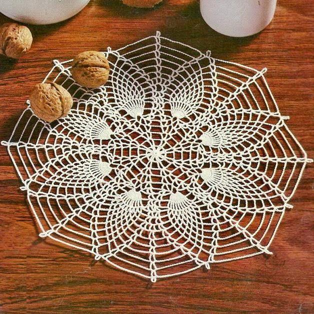 Crochet Doily Pattern - Beautiful Simple Pineapple Crochet Lace ...