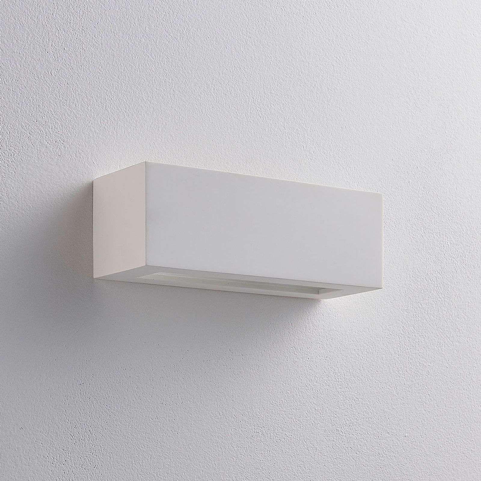 Applique LED angulaire Tjada en plâtre #gesso