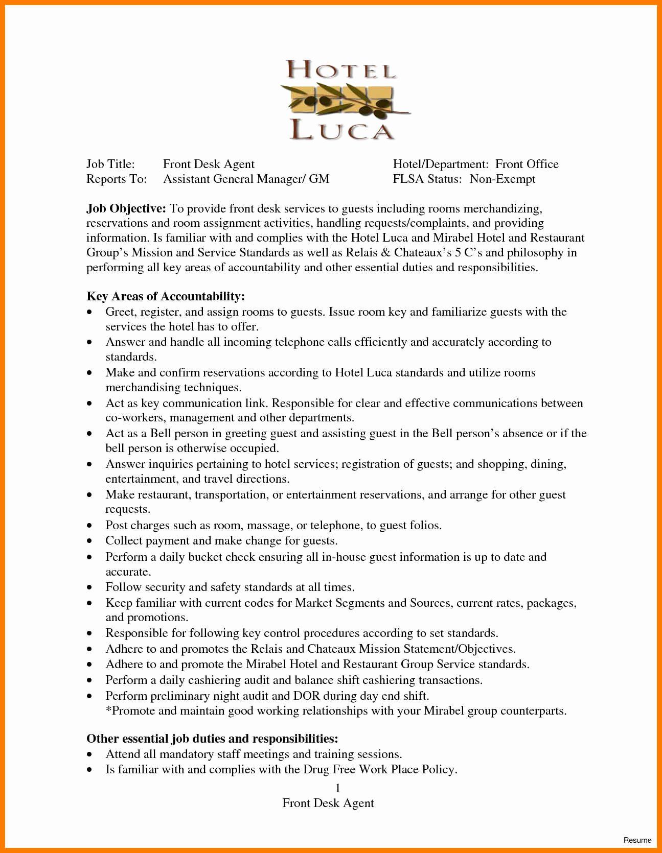 Ramp Agent Job Description Resume Inspirational 13 14 Car Rental Agent Job Description Resume In 2020 Front Desk Agent Receptionist Jobs Front Desk Hotel