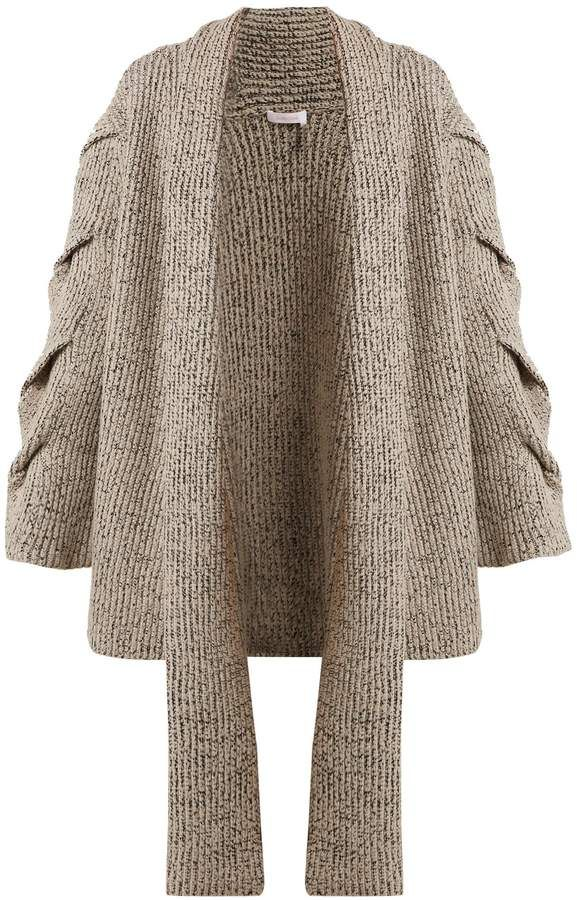 1136e64b See by Chloe Oversized cable-knit cardigan   Knit   Cable knit ...