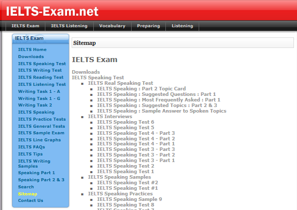 IELTS Exam net Practice tests, model answers, exercises