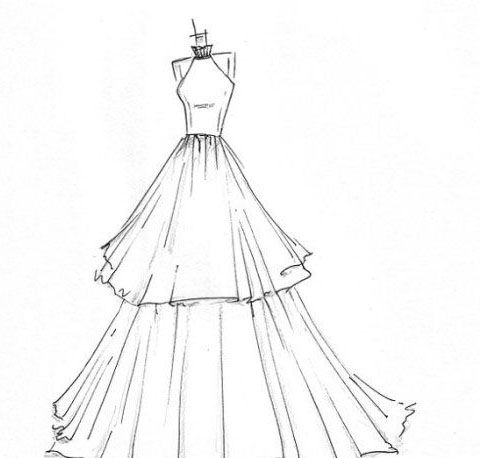 Resultado de imagen para vestidos de princesas dibujos for Dibujos de disenos de moda