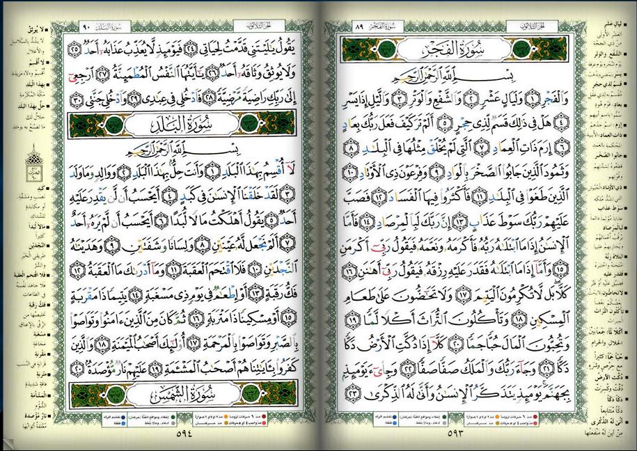 صـفحه 593 594 القرآن المصور الجزء الثلاثون سور الفجر البلد Iphone Wallpaper Vsco Bullet Journal My Books