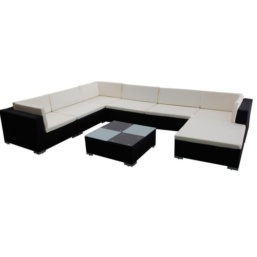 Garden Furniture Corner Sofa Ebay Rattan Outdoor Corner Sofa Dining Set Garden Furniture Black Cream