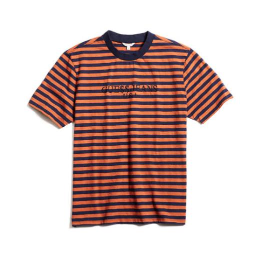 GUESS X ASAP Rocky T Shirt GUESS JEANS USA ORANGE BLUE
