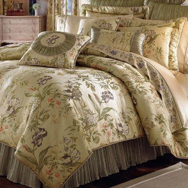 Iris Floral Comforter Bedding by Croscill