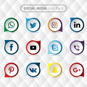 ícone de design mídia social