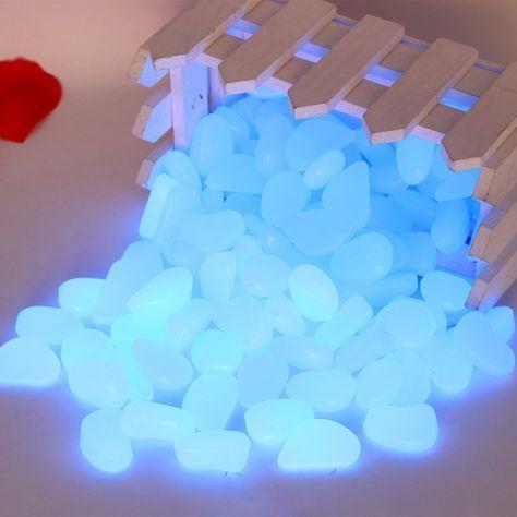 Leuchtsteine nachtleuchtende Steine Leuchtkiesel 100 Stück
