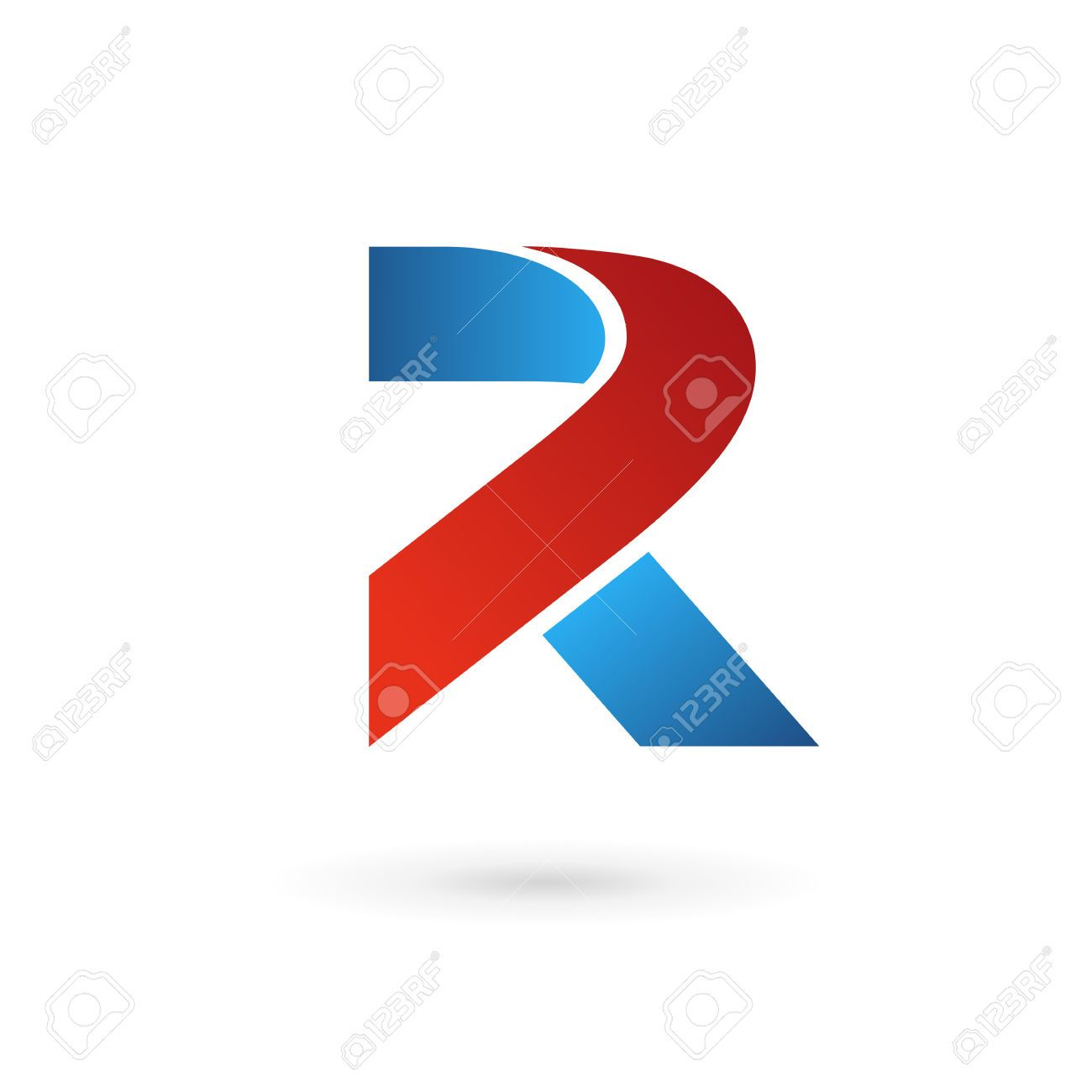 Letter R Logo Icon Design Template Elements Royalty Free Cliparts ...