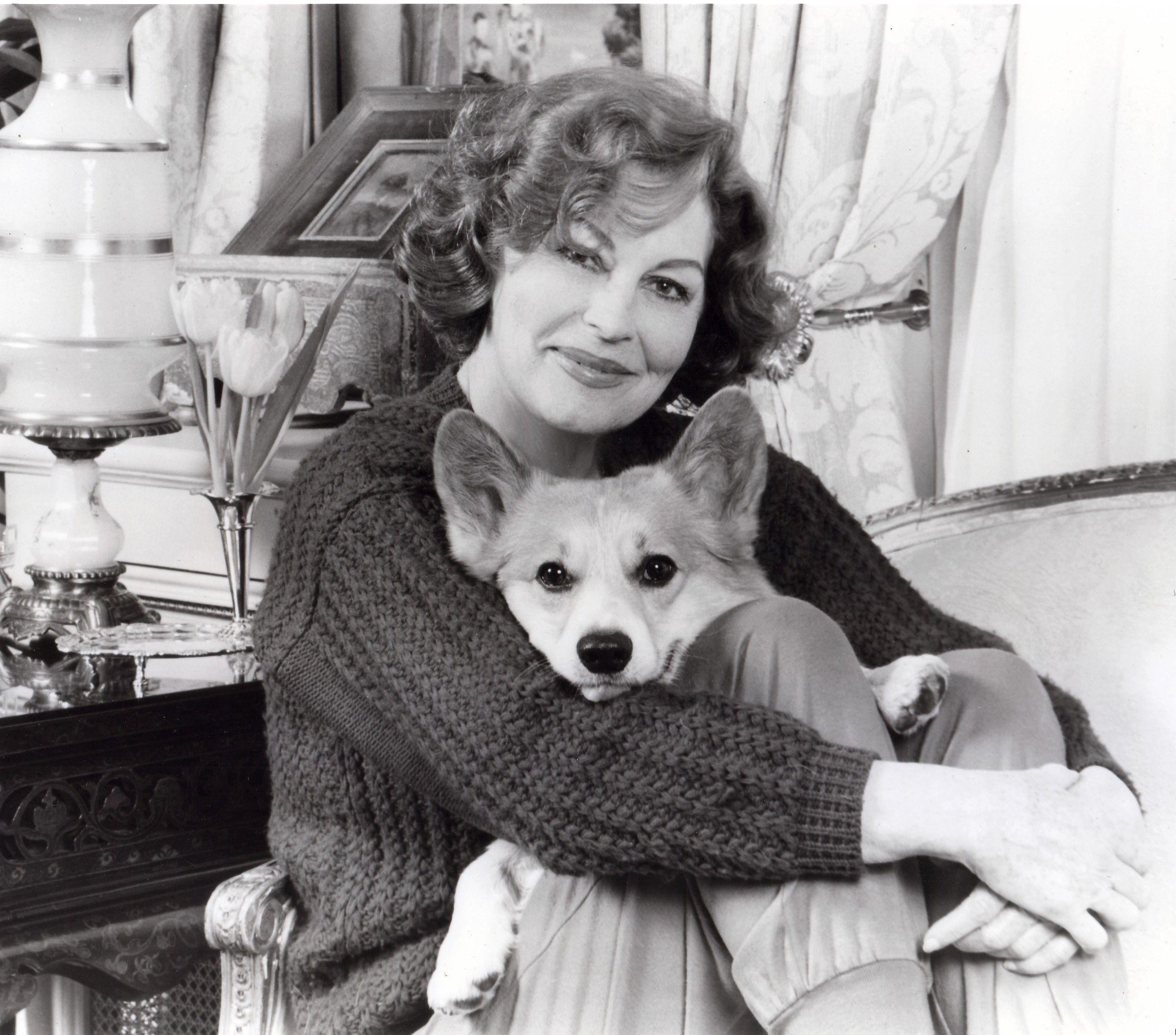Ava Gardener and one of her corgis