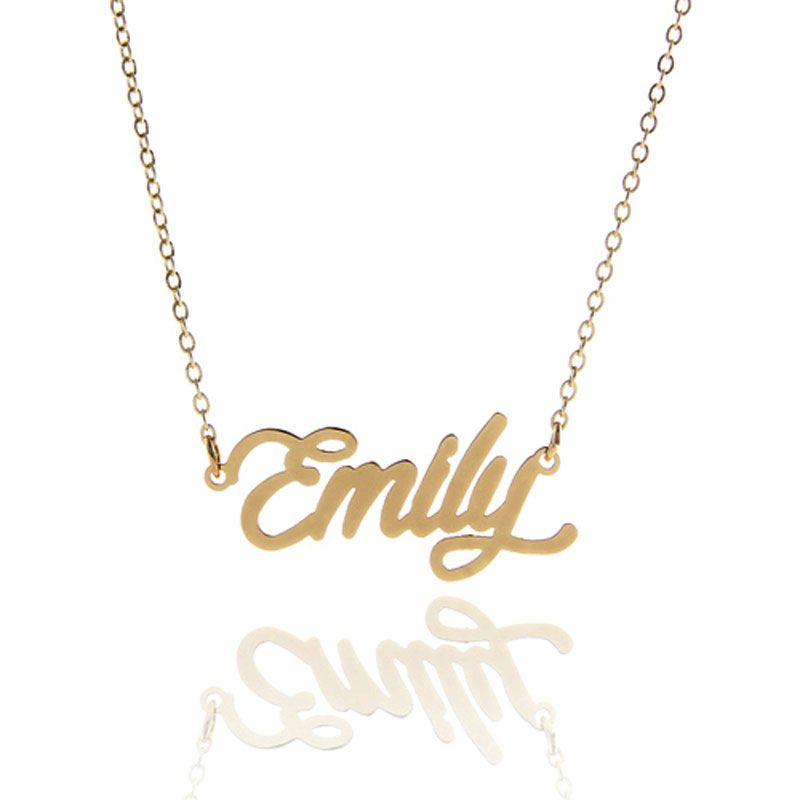 Personalized Name Necklace For Women Gold Color Script Font Emily Womens Necklaces Name Necklace Necklace