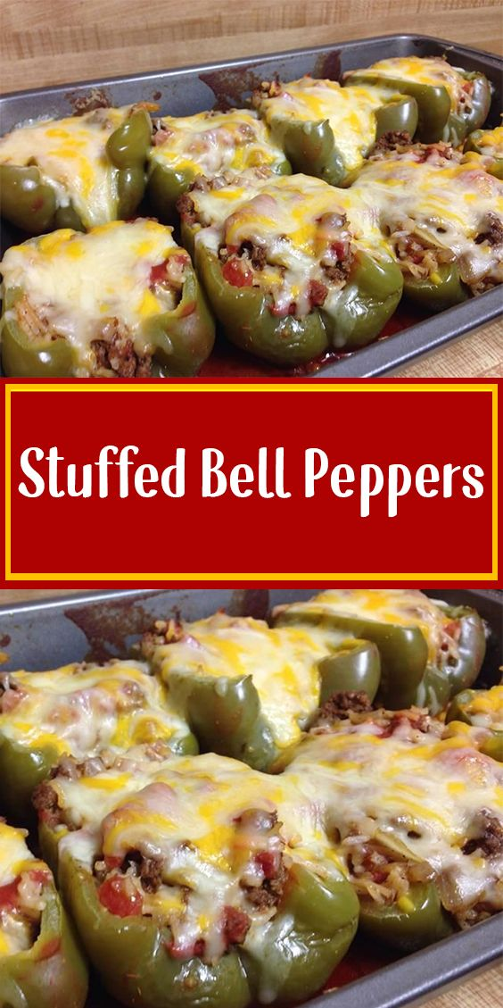 Stuffed Bell Peppers In 2020 Stuffed Peppers Recipes Stuffed Bell Peppers