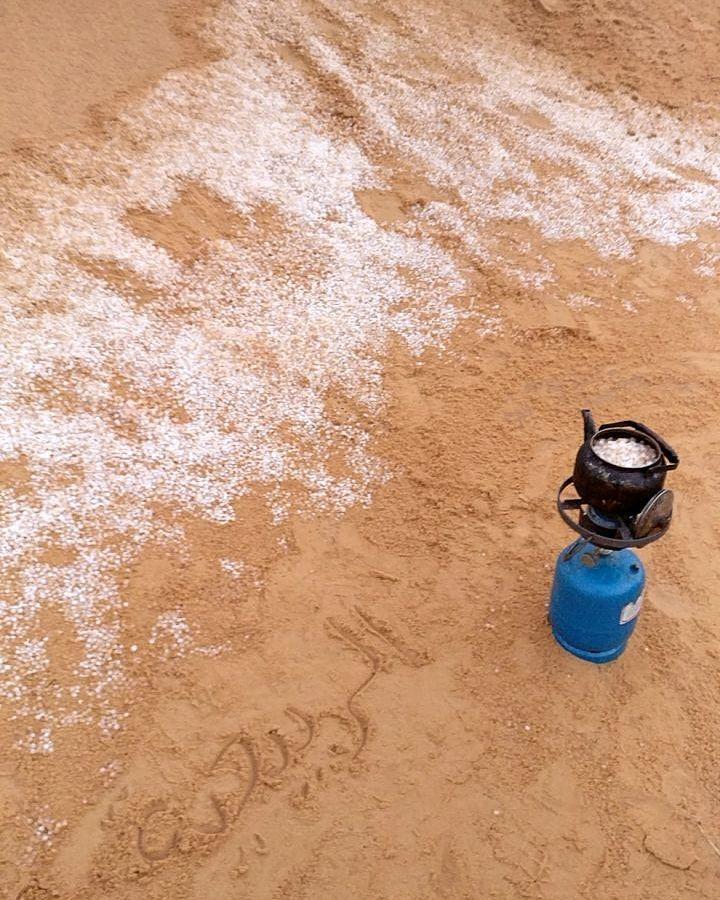 شبكة أجواء السعودية تساقط البرد في نفود الربيعية القصيم رابطة أجواء الخليج Instagram Posts Instagram Photo