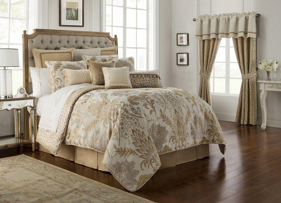 Ansonia 4 Piece Reversible Comforter Set In 2020 Farmhouse