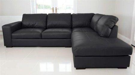 Leather Cornersofa 50 Percent Off Venice Black Pu Leather Right