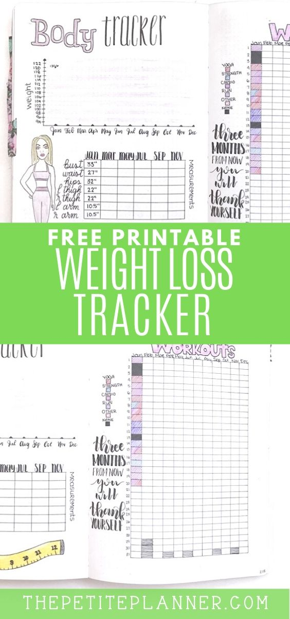 Weight Loss Tracker -   15 fitness Tracker measurements ideas
