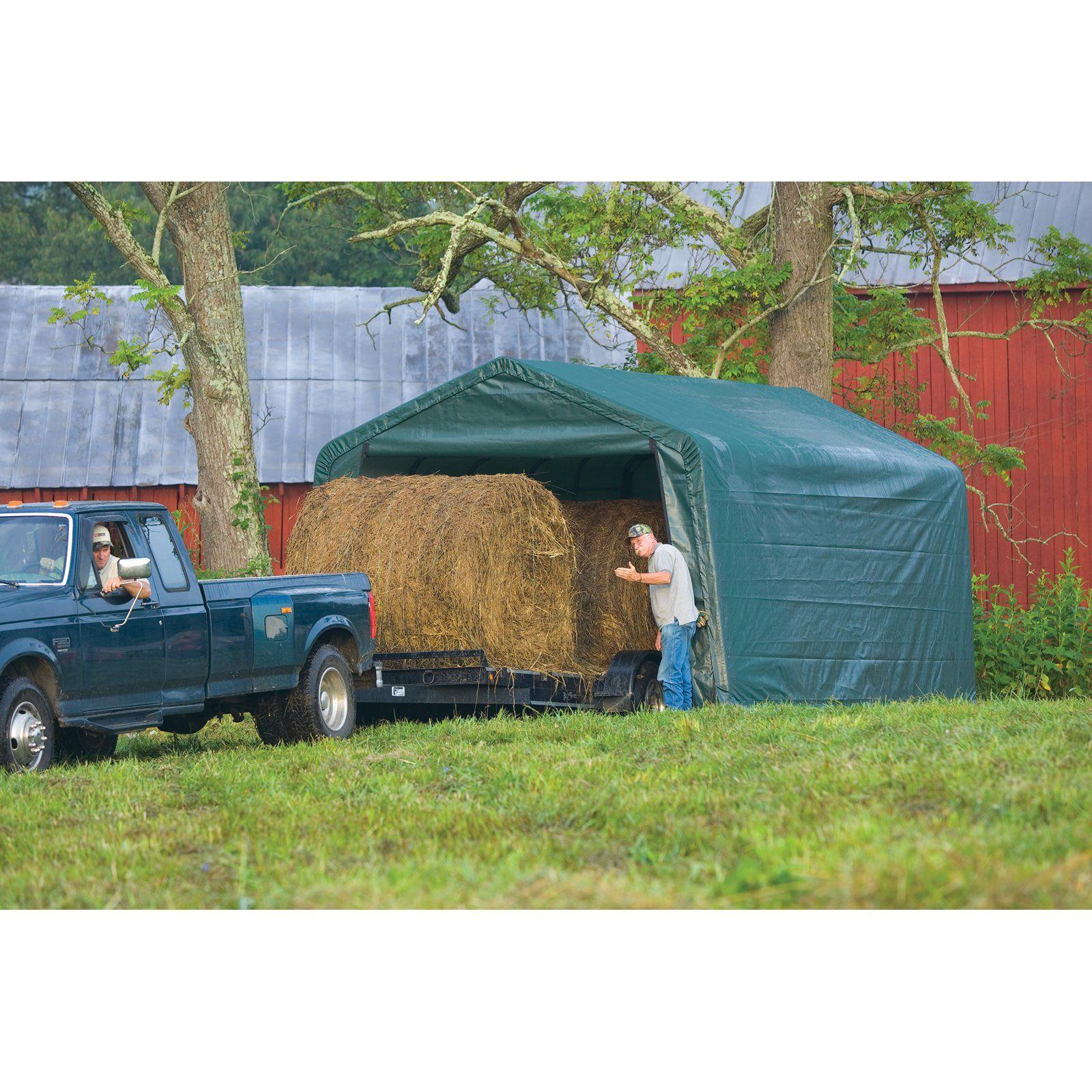 ShelterLogic 12 x 20 x 8 ft. AGRI Hay Storage Peak Frame