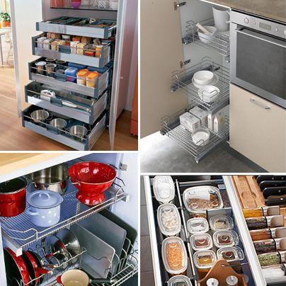 Un buen consejo para lograr m s orden en tu cocina es que for Ideas de gabinetes de cocina