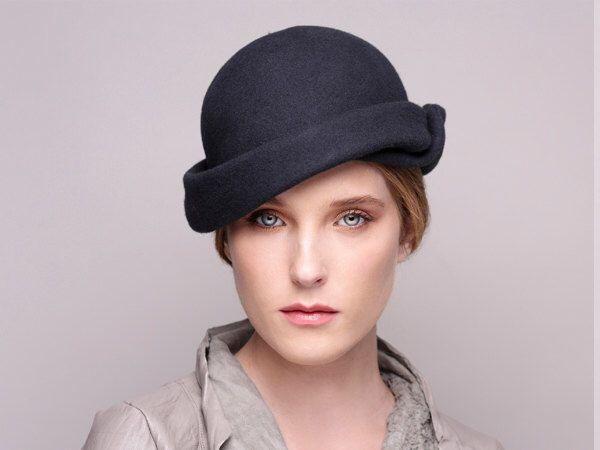Grey Felt Hat Vintage Style Handmade Hat Womens Hat Etsy Hats Vintage Winter Hats For Women Hats For Women