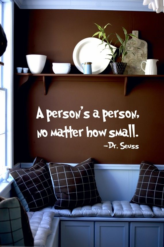'A Person's a Person' // Dr. Seuss Wall Decal