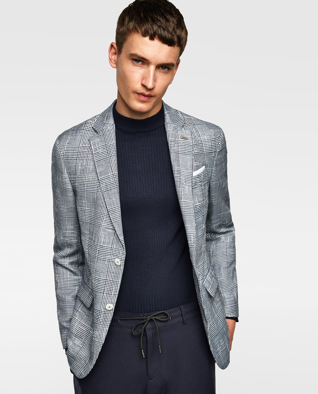 a059a4d045aa CHECKED TEXTURED WEAVE BLAZER | MBMWJT in 2019 | Blazer, Blazers for ...