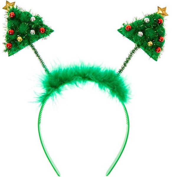 Christmas Tree Deeley Bopper Headband 7 99 Liked On Polyvore Featuring Accessories Hair Accessories H Headbands Head Wrap Headband Hair Band Accessories