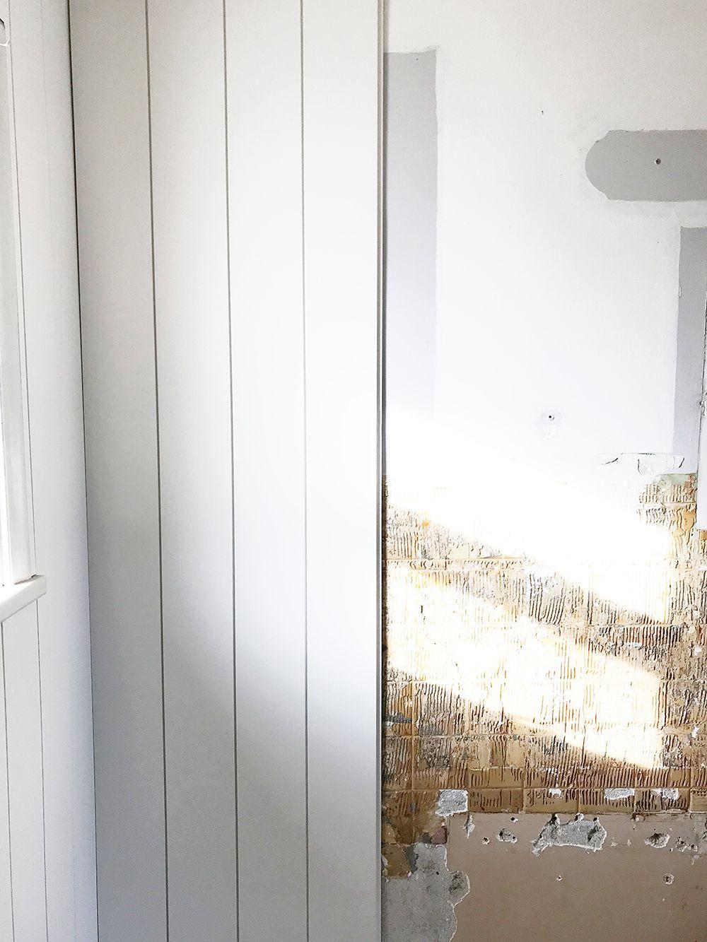 Installing PrePainted Vertical Shiplap In The Bathroom