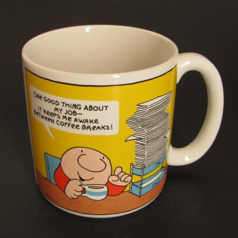Ziggy 1985 American Greetings Ceramic Coffee Break Mug Cup Cartoon