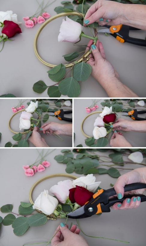 WOW these DIY flower decor hoops are spectacular! #diyflowers #diy #flowers #ring