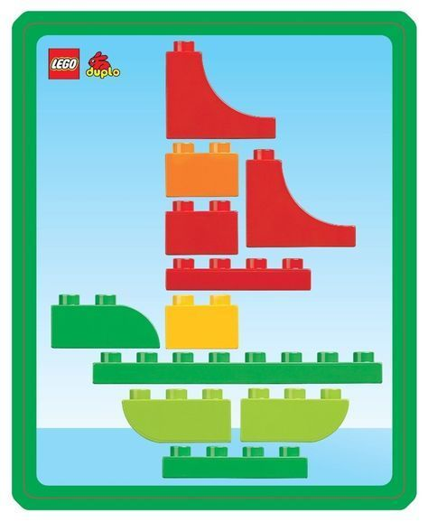 Lego duplo instructions - ship | Лего задания, Лего дупло ...