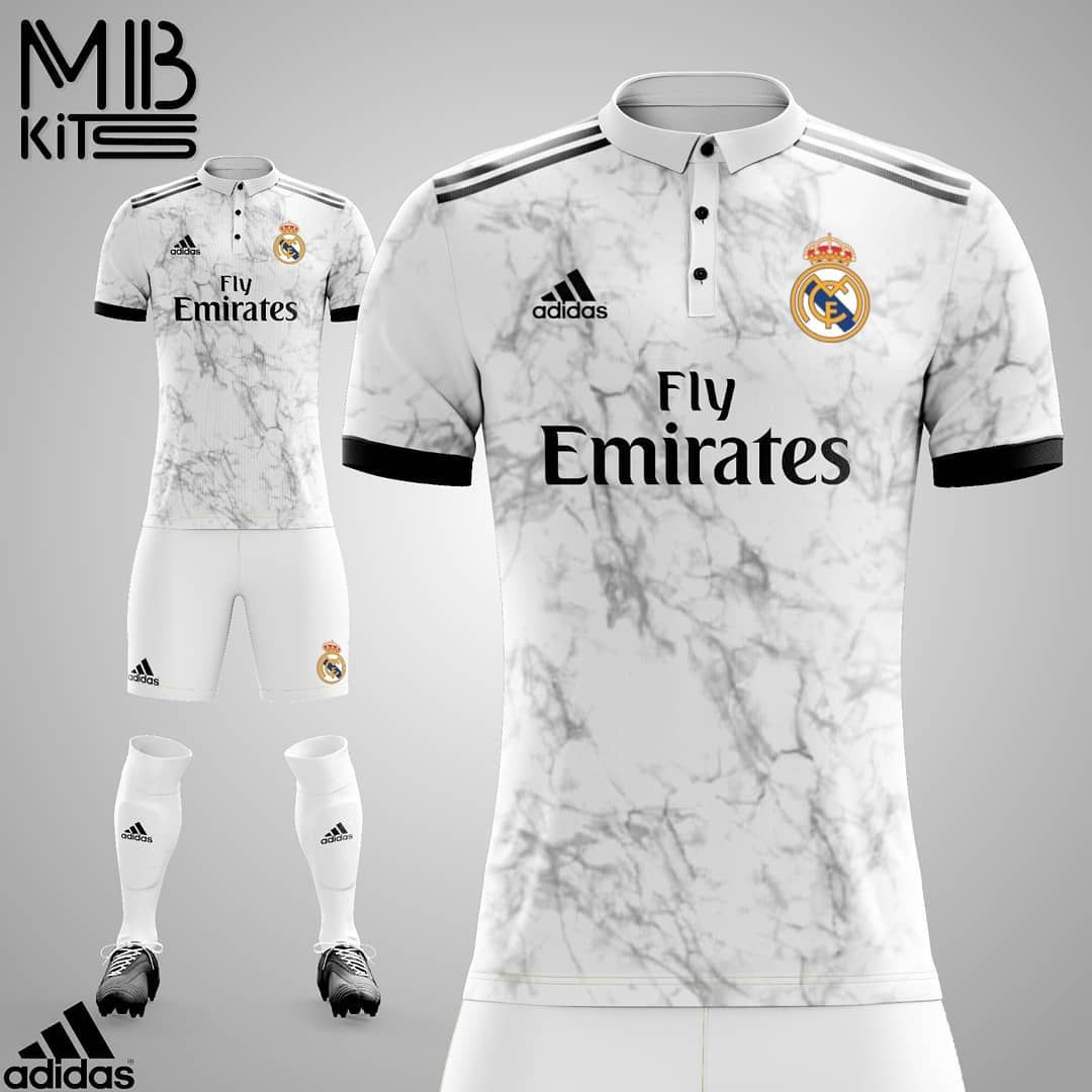 Real Madrid Home Jersey Concept Football Concept Remastered Fanart Laliga Liga Spain Merengue Real Madrid Re Soccer Shirts Soccer Jersey Soccer Kits