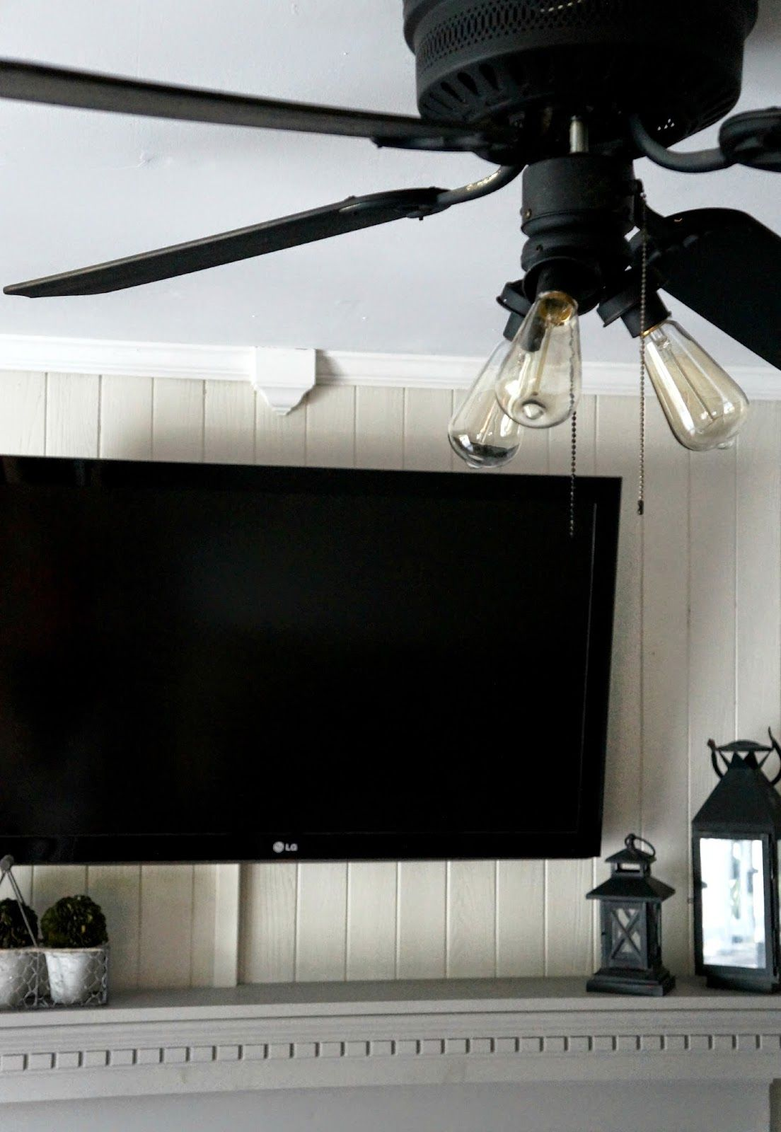 Super Easy Industrial Style Fan Makeover Ceiling Fan Makeover